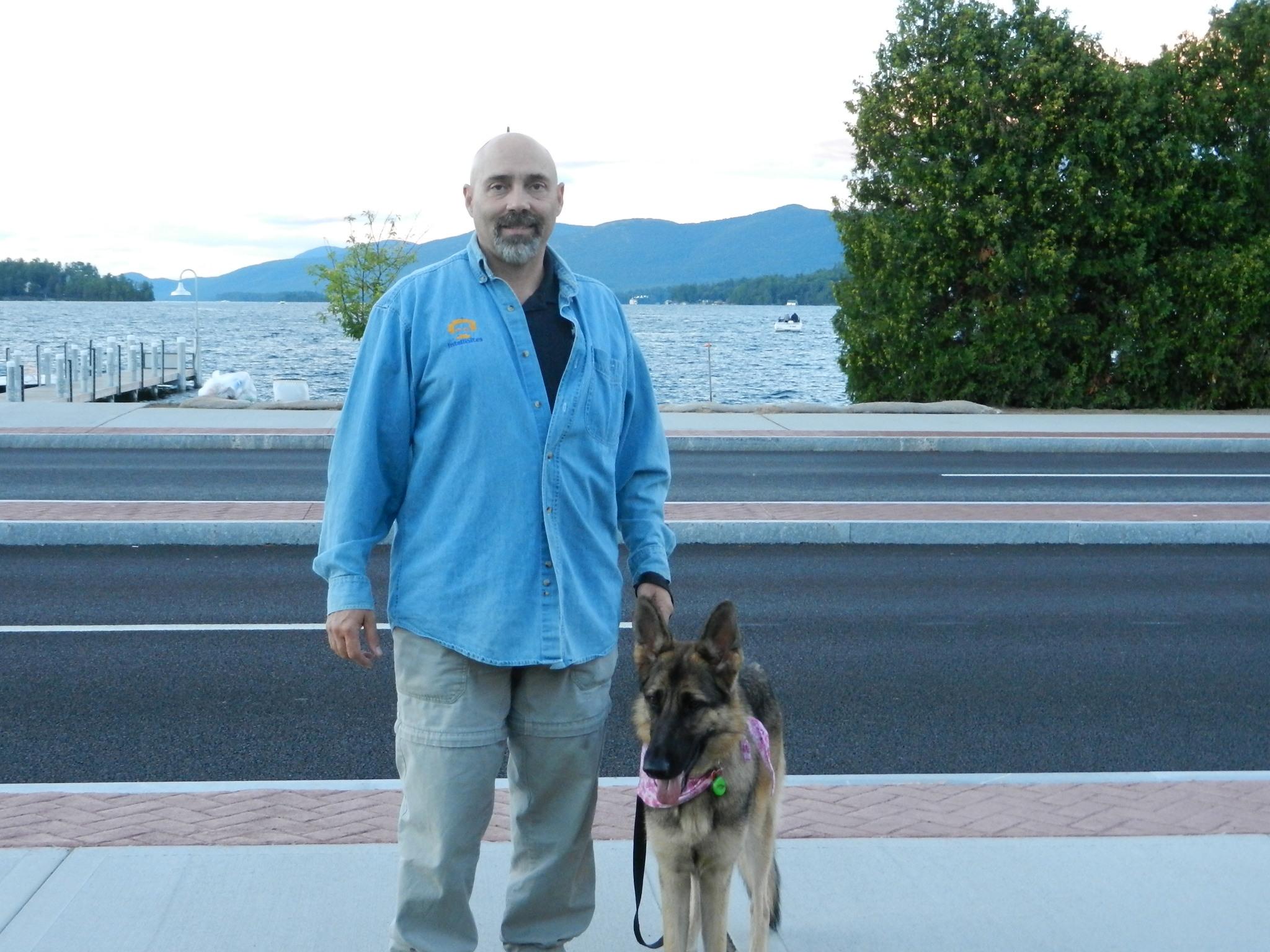 Photo: #cocogermanshepherddog Coco and Tom at Lake George NY, 2013