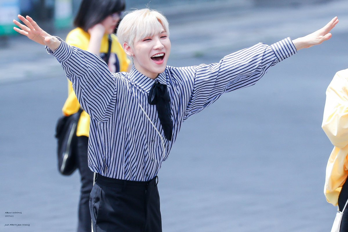 AB6IX Jeonwoong excited and happy