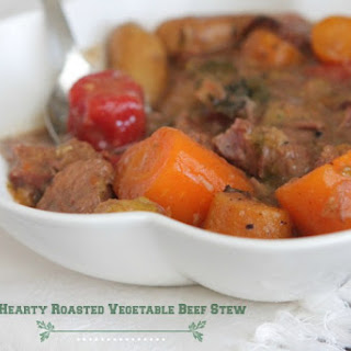 Hearty Roasted Vegetable Beef Stew | Slow Cooker Recipes.