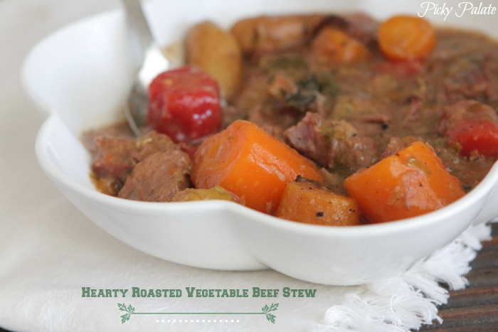 Hearty Roasted Vegetable Beef Stew | Slow Cooker Recipes Recipe