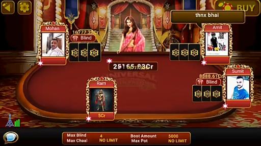 Universal Teen Patti - Indian Poker Game 0.24 gameplay | by HackJr.Pw 8