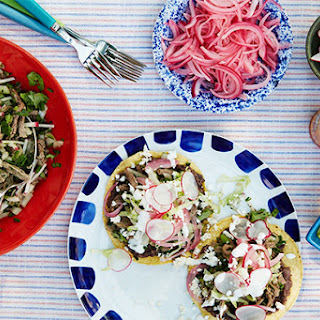 Shredded Beef Tostadas with Chiles and Lime