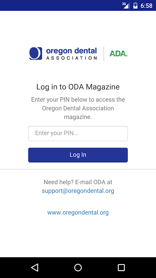 ODA Membership Matters- screenshot