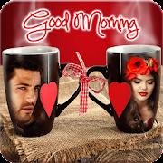 Coffee Mug Dual Photo Frame