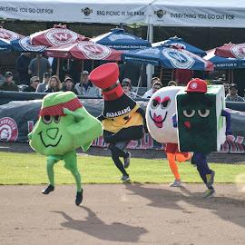 Mascot Races by Cory Bohnenkamp - Sports & Fitness Baseball ( vancouver canadians, mascot, mascots, baseball, nat bailey, race )
