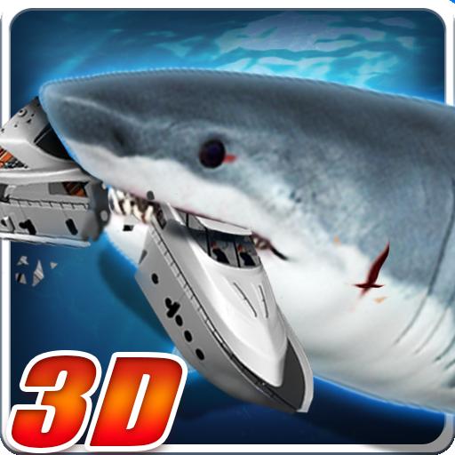 憤怒的巨齒鯊3D 模擬 LOGO-玩APPs