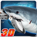 Angry Megalodon Shark 3D icon