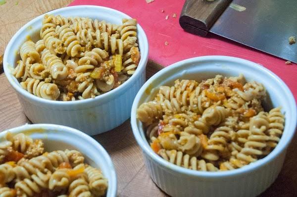 Add the pasta/sauce/sausage mixture.