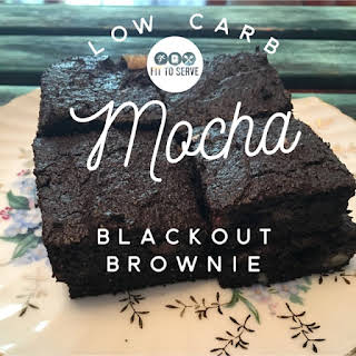 Low Carb Mocha Blackout Brownie.