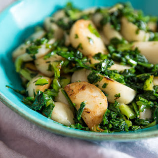 Sautéed Japanese Turnips With Turnip Greens
