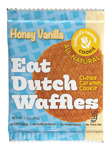 Eat Dutch Waffles Honey Vanilla Waffles, Box of 16