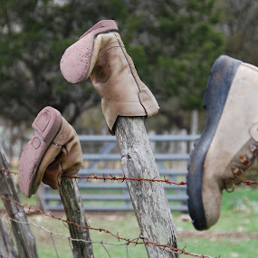 Shoe Fence by Nancy Lowrie - Artistic Objects Clothing & Accessories ( wood, closeup, quality, detail, new, fresh, win, 2013, 2014,  )