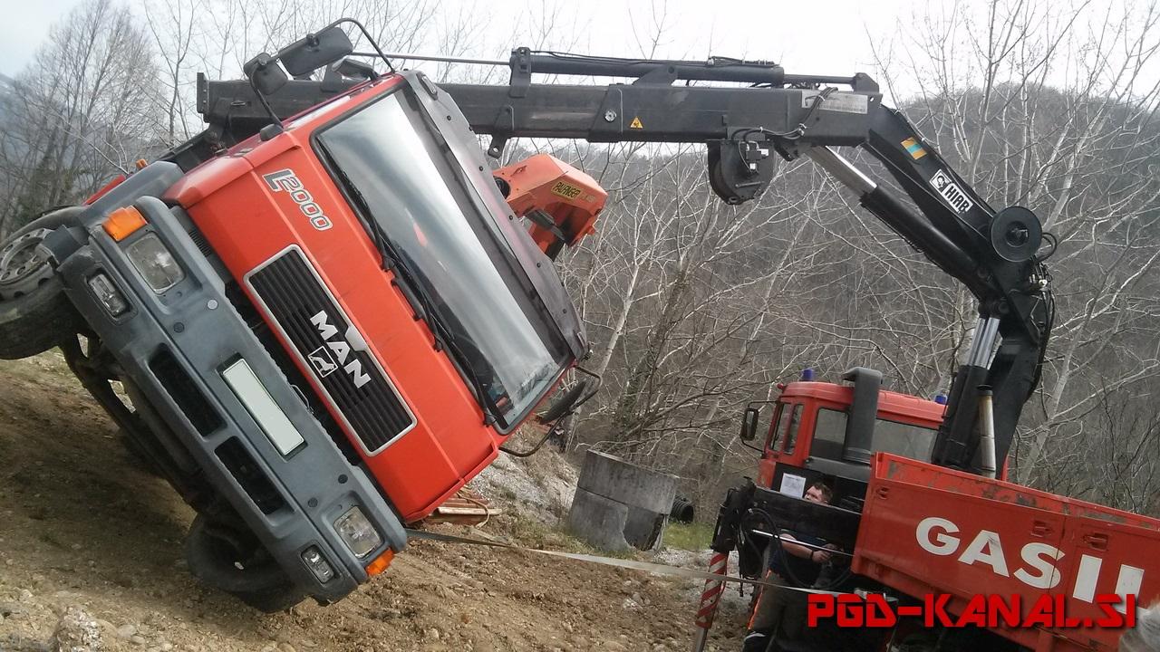 PGD Kanal - Dvig tovornjaka Plave