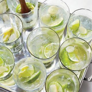 Ginger Caipirinhas Cocktail