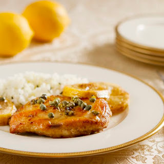 Easy Broiled Chicken with Lemon Butter Sauce.