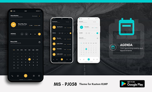 MS - PJ058 Theme for KLWP Screenshot