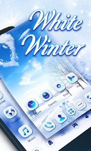 White Winter Go Launcher Theme - náhled