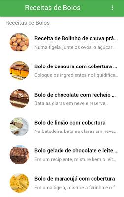 Receitas de Bolos - screenshot
