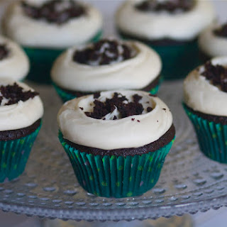 Chocolate Guiniess Cupcakes with Bailey's Cream Cheese Frosting