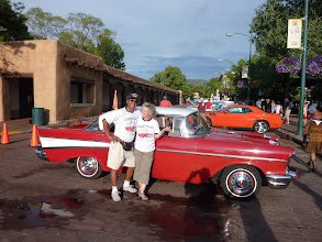 Photo: Ed and Barbara Baca with their 1957 Chevy Belair