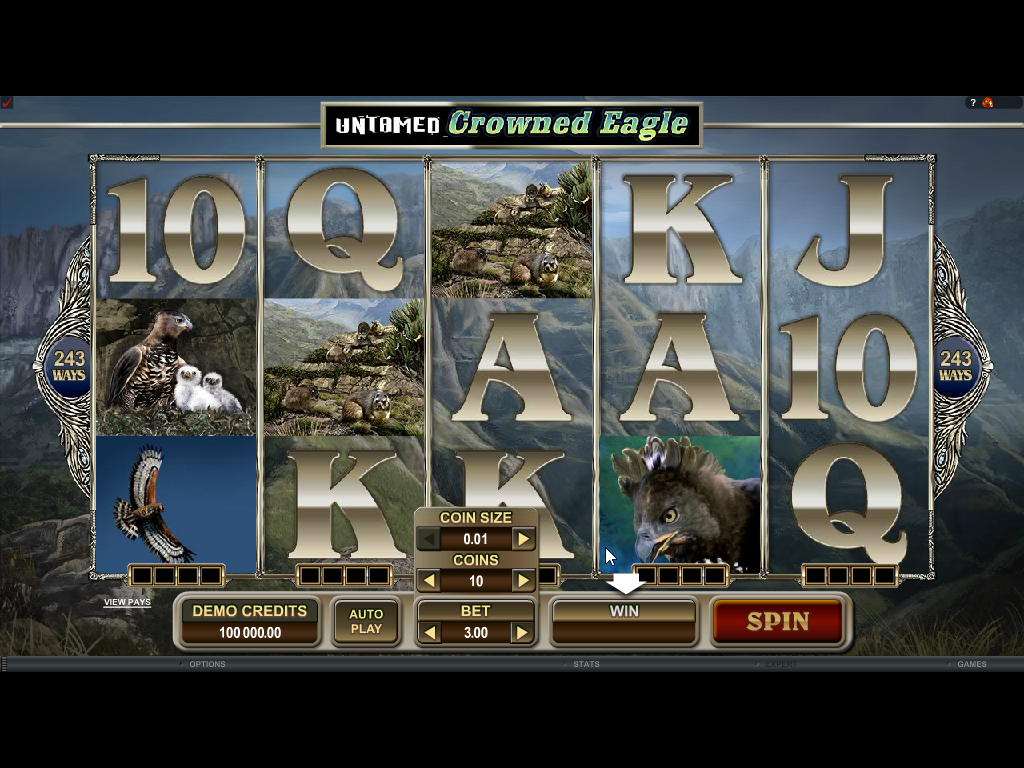 Untamed Crowned Eagle Slots Game Review