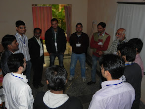 Photo: Event begins with a communication workshop...