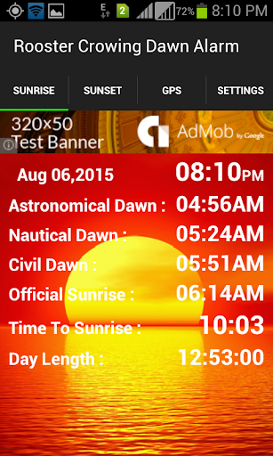 Rooster Crowing Dawn Alarm