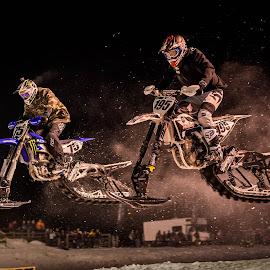 Snowbike Cross by Kenton Knutson - Sports & Fitness Motorsports ( winter, snowbike, moto, snow )