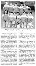 Photo: 05-05-96 CF les cadettes en demi-finale du championnat de Lorraine contre l'ASPTT Nancy