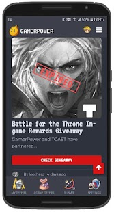 GamerPower: Android Games, Beta keys and Giveaways- screenshot thumbnail