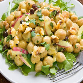 Curried Chickpea Salad with Walnuts and Dried Currants.
