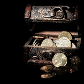 the box by Faareast Mk - Artistic Objects Antiques ( tax, treasure, economy, wealth, box, gold, stocks )