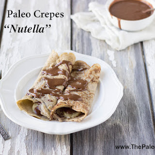 "Paleo Crepes with ""Nutella""."