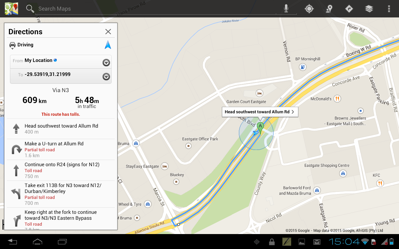 Yellow Pages SA - Maps, GPS... - screenshot