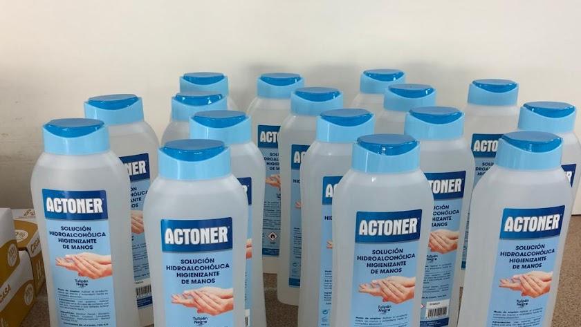 Solución hidroalcohólica higienizante de manos.