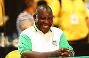 Cyril Ramaphosa smiles just moments before he was announced as the new ANC President during the 54th ANC National Elective Conference held at Nasrec.