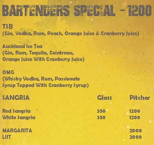 The Stadium Bar menu 6