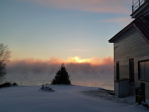 Photo: sunrise on a winter morn