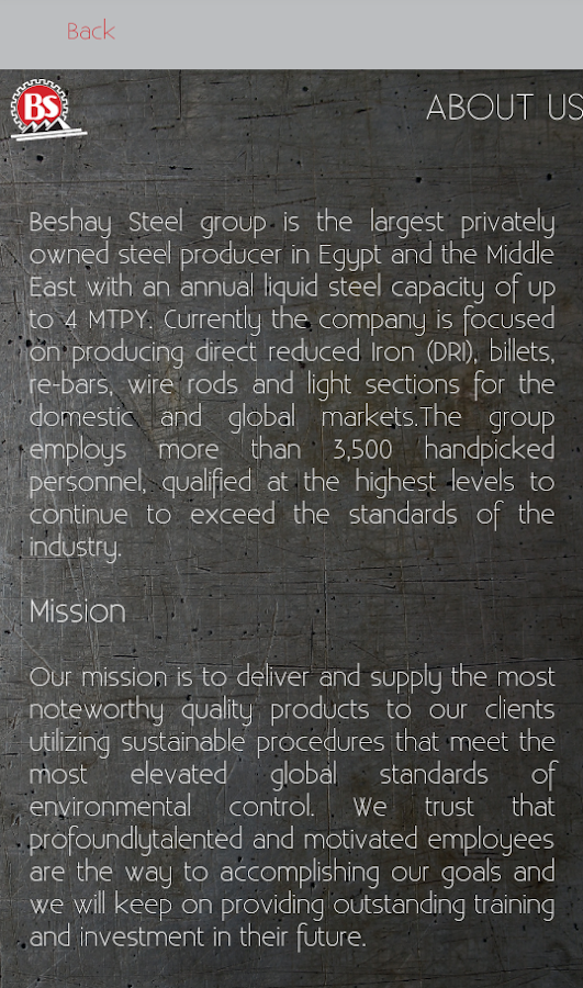Beshay Steel- screenshot