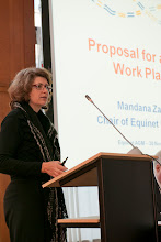 Photo: Mandana Zarrehparvar, (former) Chair of the Equinet Executive Board