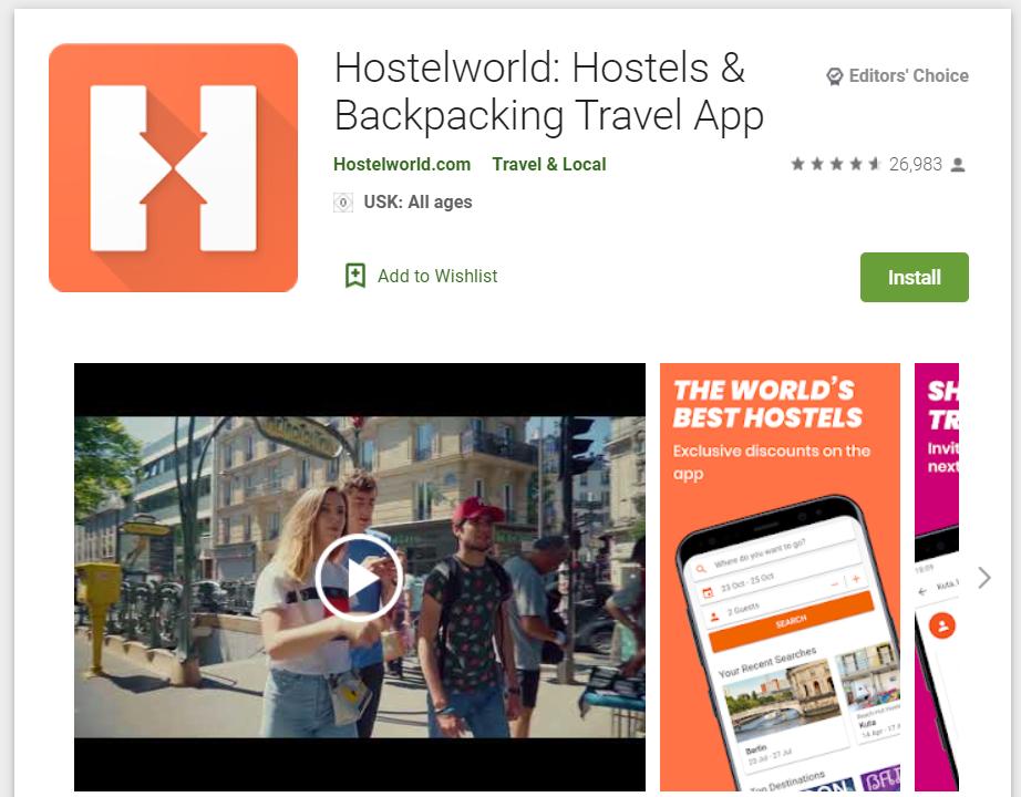 Le migliori Travel App per riscoprire l'Italia_hostelworld