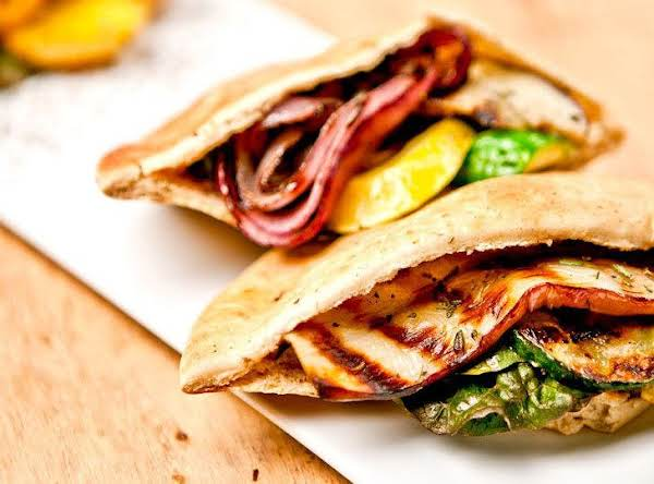 Stuffed Grilled Vegetable Pita Sandwitch