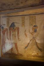 Photo: QV44 Tomb of Khaemwaset - Horus? and Thoth ?