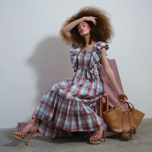 Fashion editorial featuring looks from Ulla Johnson and Charlotte Olympia.