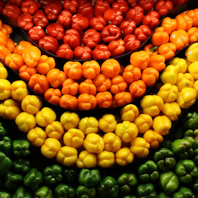 Smile! by Terese Hale - Uncategorized All Uncategorized ( red, orange, peppers, yellow, bright,  )