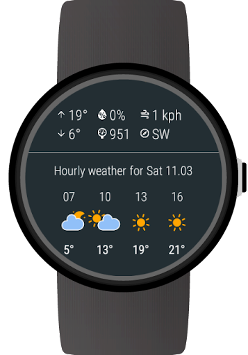 Weather for Wear OS (Android Wear)  screenshots 3