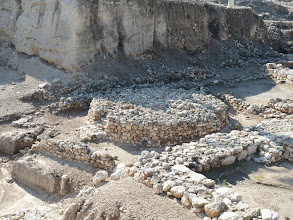 Photo: A large Canaanite altar found in Megiddo.