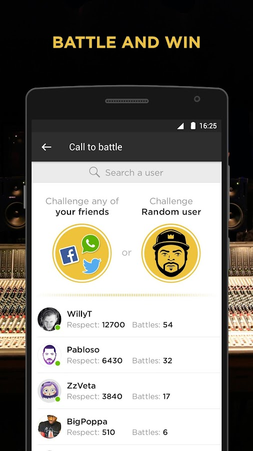 Battle Me - Hip Hop Community and Rap Studio- screenshot
