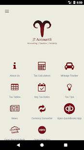 JT Accounts - náhled