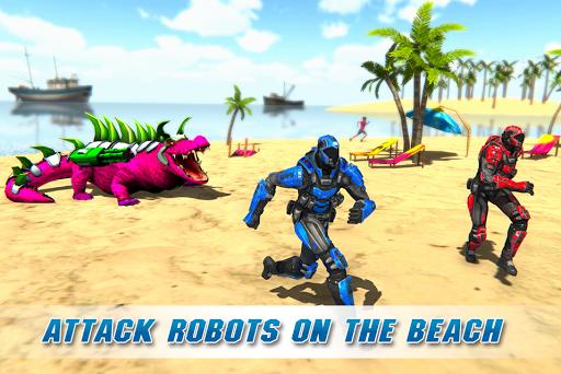 Real Robot Crocodile Simulator- Robot transform 1.0.12 Screenshots 5
